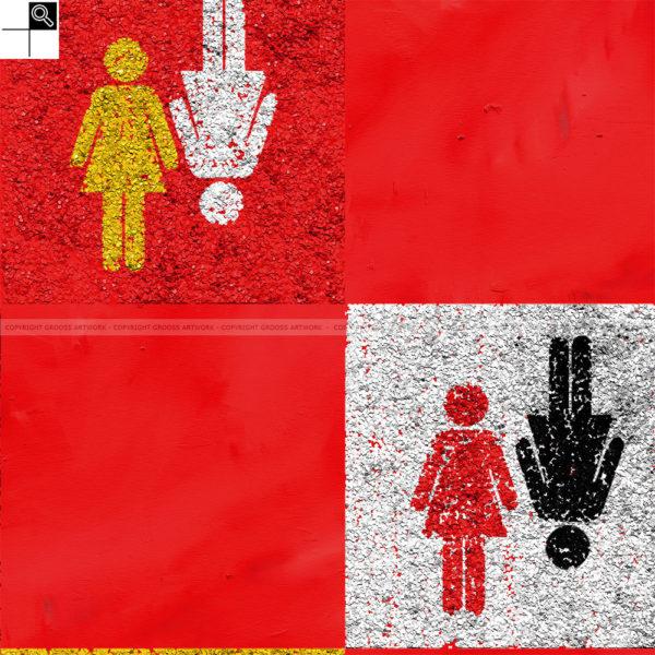 Wife & wife : 50 x 50 cm – Grafisk kunst på lærred af Søren Grooss – Årstal : 2011