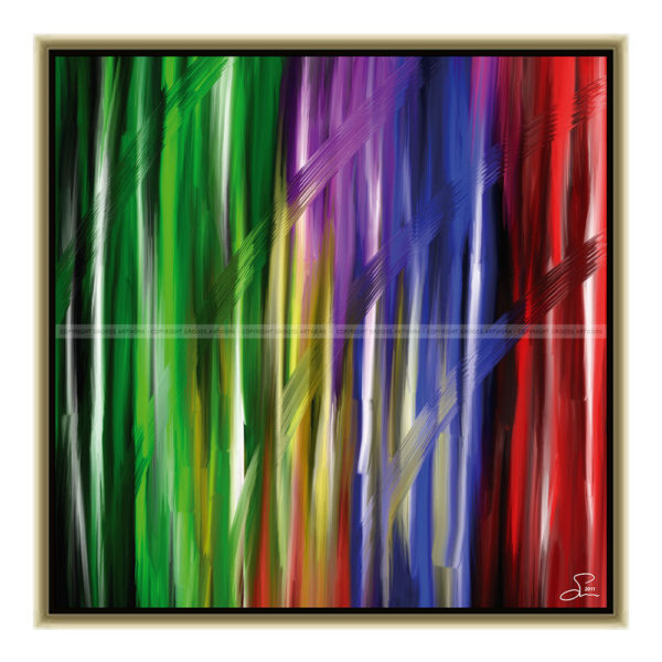 Waiting for the sunshine : 50 x 50 cm – Grafisk kunst på lærred af Søren Grooss – Årstal : 2011