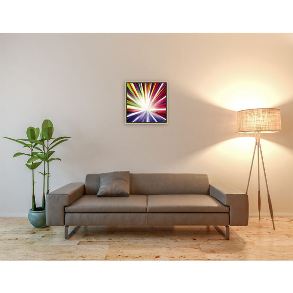 Big star : 50 x 50 cm – Grafisk kunst på lærred af Søren Grooss – Årstal : 2011