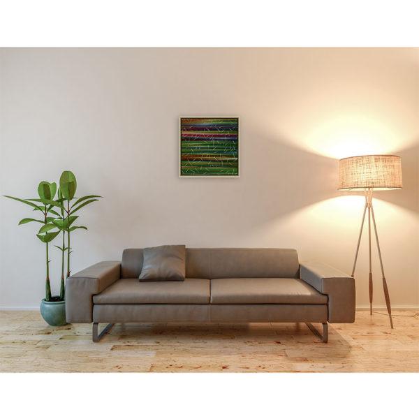 Weeds : 50 x 50 cm – Grafisk kunst på lærred af Søren Grooss – Årstal : 2013
