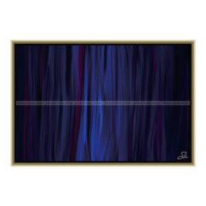 Blue fire : 60 x 40 cm – Grafisk kunst på lærred af Søren Grooss – Årstal : 2013