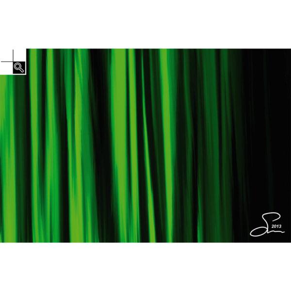 Green fire : 60 x 40 cm – Grafisk kunst på lærred af Søren Grooss – Årstal : 2013