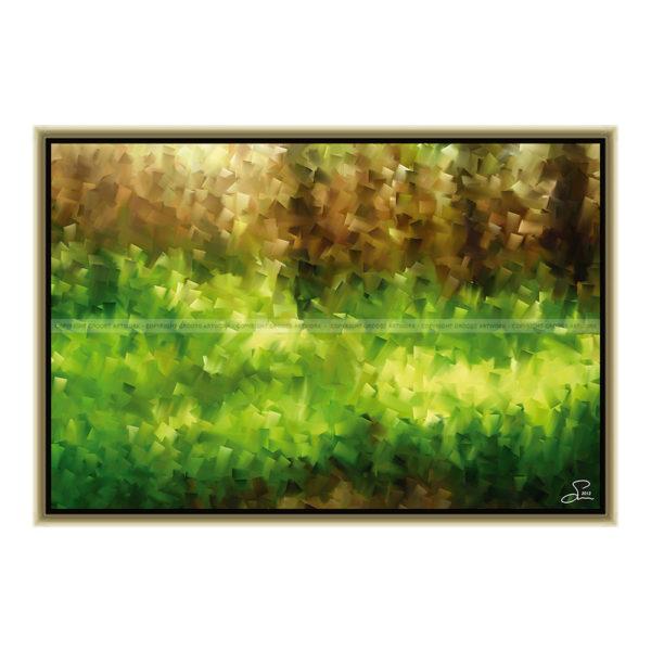 In the middle of the forest : 60 x 40 cm – Grafisk kunst på lærred af Søren Grooss – Årstal : 2013