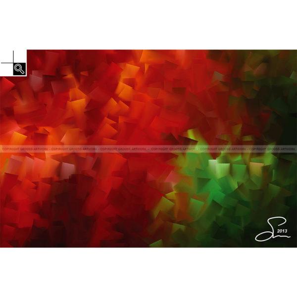 Tomorrow : 60 x 40 cm – Grafisk kunst på lærred af Søren Grooss – Årstal : 2013
