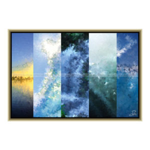 Water seen on five sites : 60 x 40 cm – Grafisk kunst på lærred af Søren Grooss – Årstal : 2013