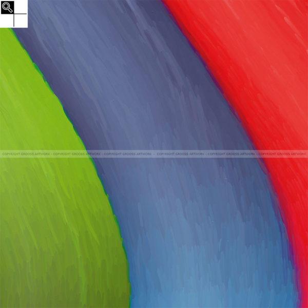 Fall with me : 50 x 50 cm – Grafisk kunst på lærred af Søren Grooss – Årstal : 2013