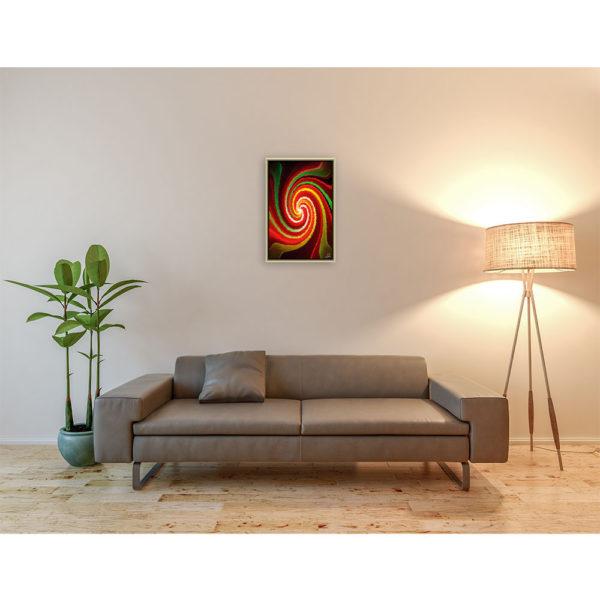 I can´t sleep : 40 x 60 cm – Grafisk kunst på lærred af Søren Grooss – Årstal : 2013