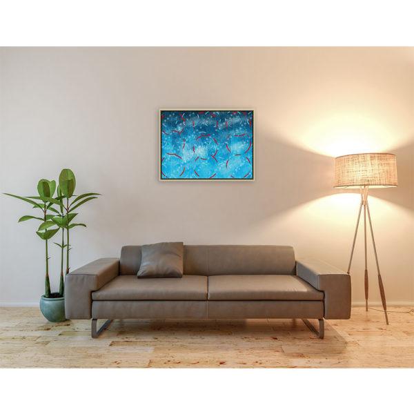 Stains : 80 x 60 cm – Grafisk kunst på lærred af Søren Grooss – Årstal : 2013