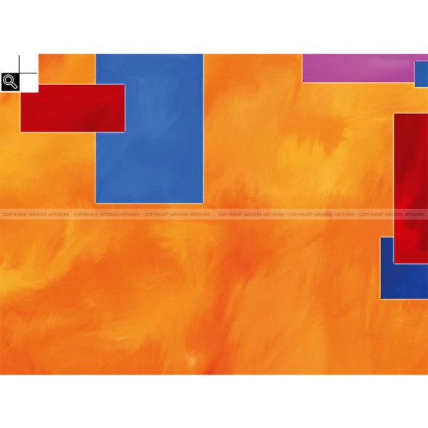 Tribal wars : 80 x 60 cm – Grafisk kunst på lærred af Søren Grooss – Årstal : 2013