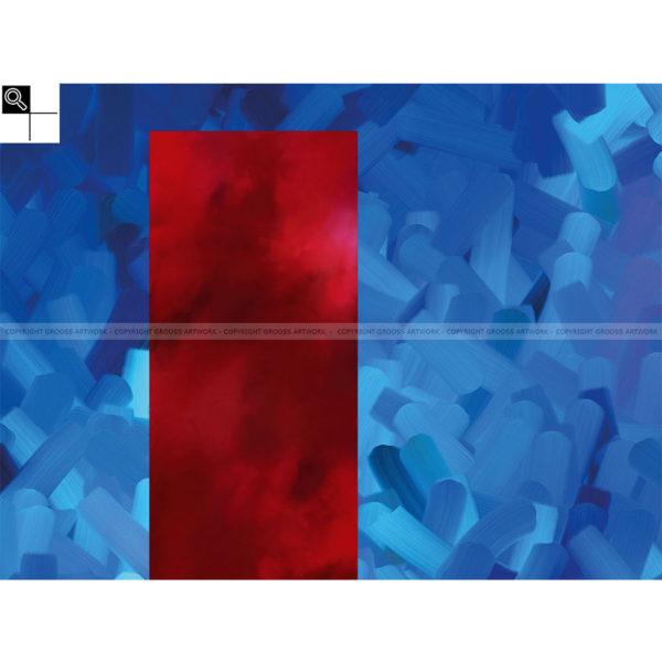 Obey it : 80 x 60 cm – Grafisk kunst på lærred af Søren Grooss – Årstal : 2013