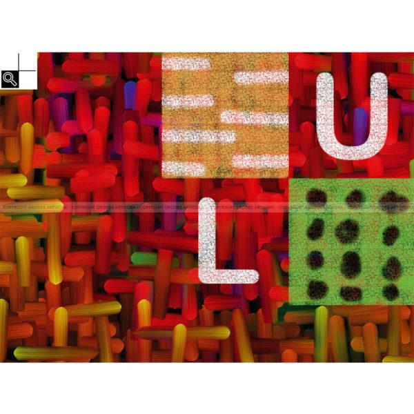 Joyfully : 80 x 60 cm – Grafisk kunst på lærred af Søren Grooss – Årstal : 2013