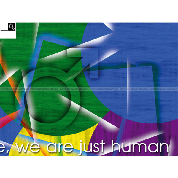 We are not a disease : 80 x 60 cm – Grafisk kunst på lærred af Søren Grooss – Årstal : 2013