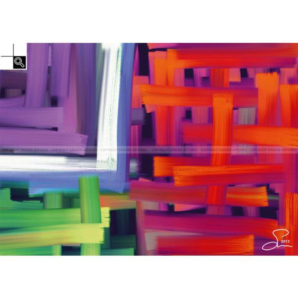 Feeling warm inside : 70 x 50 cm – Grafisk kunst på lærred af Søren Grooss – Årstal : 2013