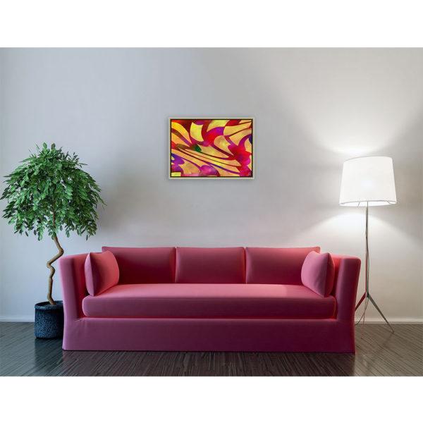 Windows : 70 x 50 cm – Grafisk kunst på lærred af Søren Grooss – Årstal : 2013