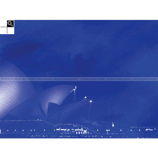 Blue sidney : 80 x 60 cm – Grafisk kunst på lærred af Søren Grooss – Årstal : 2013