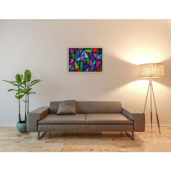 Light from above : 70 x 50 cm – Grafisk kunst på lærred af Søren Grooss – Årstal : 2013