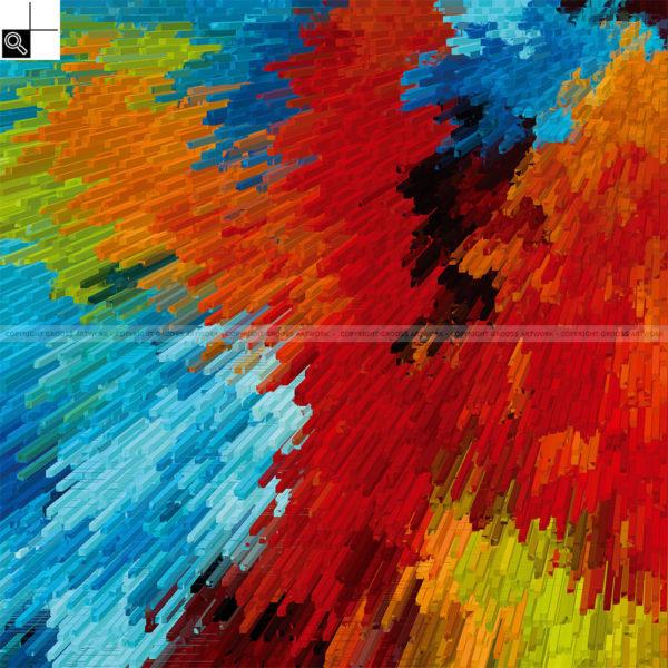 Listening to my favorite music : 50 x 50 cm – Grafisk kunst på lærred af Søren Grooss – Årstal : 2013