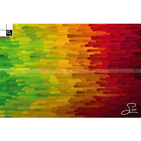 Follow the flow : 60 x 40 cm – Grafisk kunst på lærred af Søren Grooss – Årstal : 2014