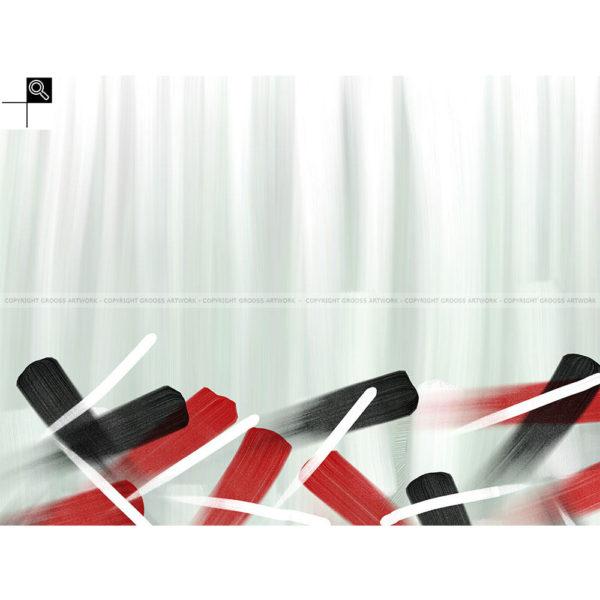 Look inside, not out : 80 x 60 cm – Grafisk kunst på lærred af Søren Grooss – Årstal : 2014