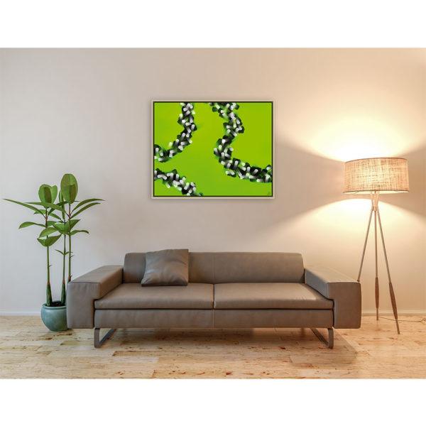 Keep believing : 100 x 80 cm – Grafisk kunst på lærred af Søren Grooss – Årstal : 2014