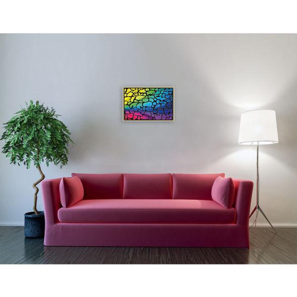 Down to nothing : 60 x 40 cm – Grafisk kunst på lærred af Søren Grooss – Årstal : 2014