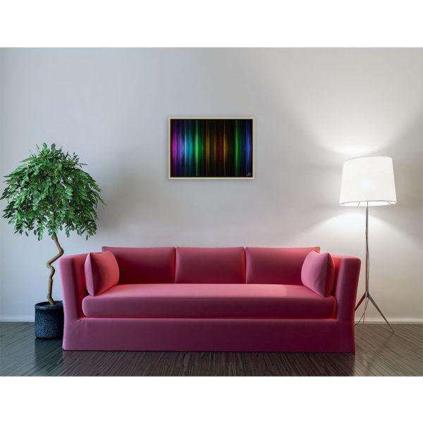 Cosmic music : 70 x 50 cm – Grafisk kunst på lærred af Søren Grooss – Årstal : 2014