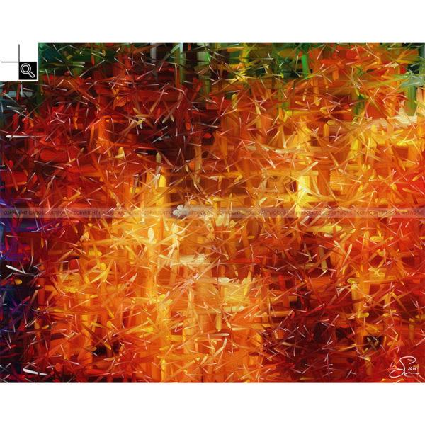 Earning my trust : 100 x 80 cm – Grafisk kunst på lærred af Søren Grooss – Årstal : 2014