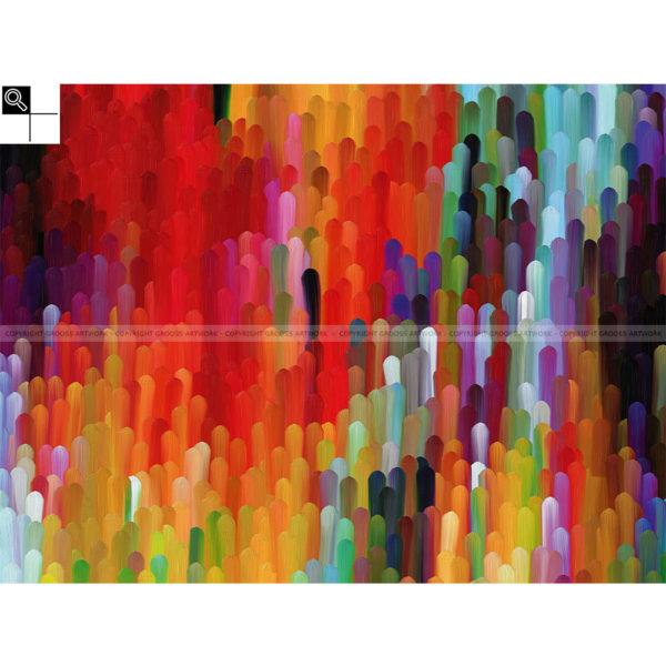 Forever and ever : 80 x 60 cm – Grafisk kunst på lærred af Søren Grooss – Årstal : 2014