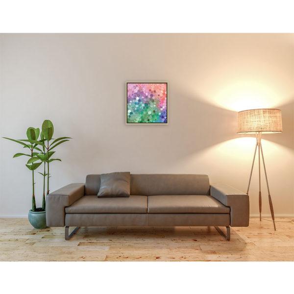 Sliced color discs : 50 x 50 cm – Grafisk kunst på lærred af Søren Grooss – Årstal : 2015