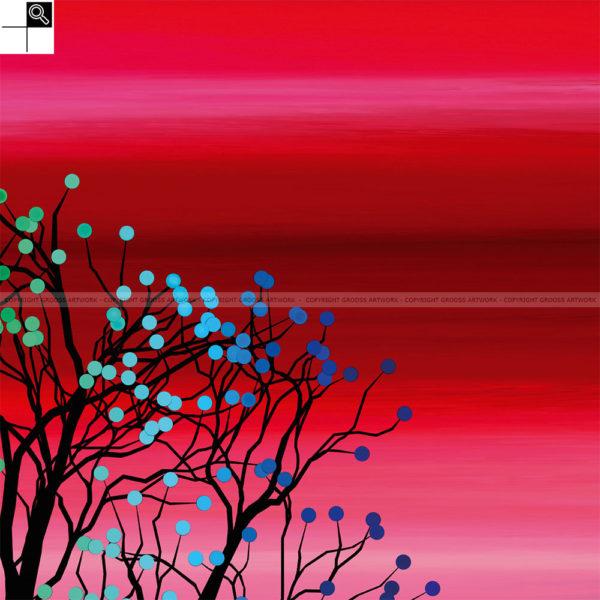 Small tree ''One'' : 30 x 30 cm – Grafisk kunst på lærred af Søren Grooss – Årstal : 2015