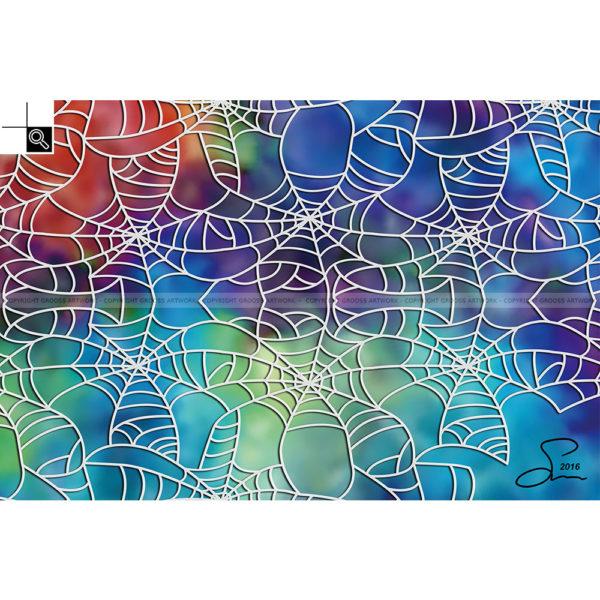 Spider on extasy : 60 x 40 cm – Grafisk kunst på lærred af Søren Grooss – Årstal : 2016