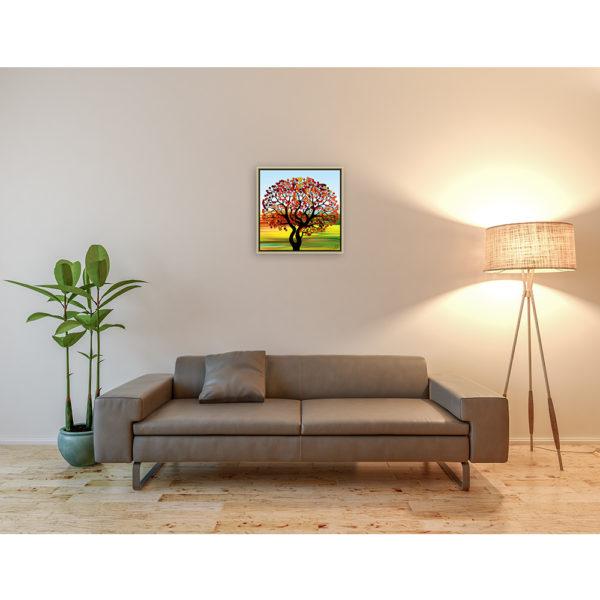 On my way : 50 x 50 cm – Grafisk kunst på lærred af Søren Grooss – Årstal : 2016
