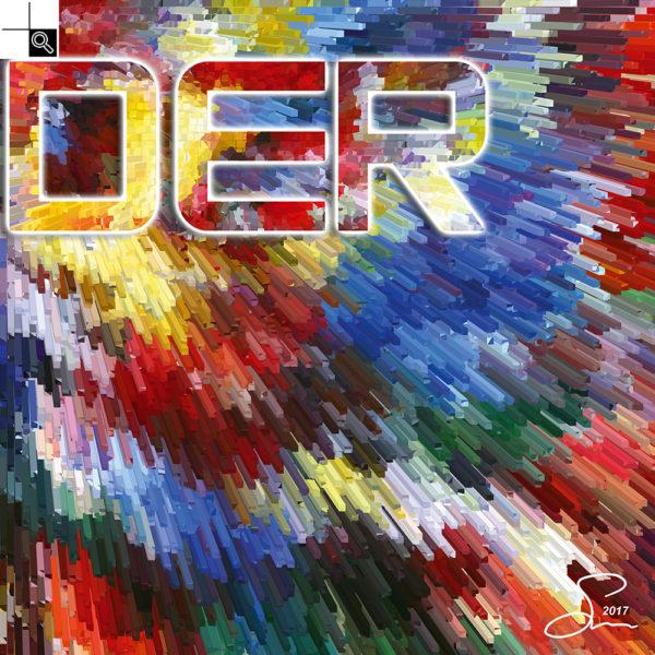 Live louder : 50 x 50 cm – Grafisk kunst på lærred af Søren Grooss – Årstal : 2017