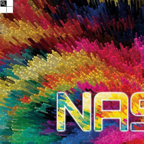 Nasty beats : 50 x 50 cm – Grafisk kunst på lærred af Søren Grooss – Årstal : 2017