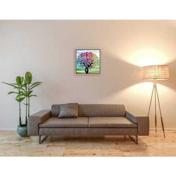 Here we go : 50 x 50 cm – Grafisk kunst på lærred af Søren Grooss – Årstal : 2017