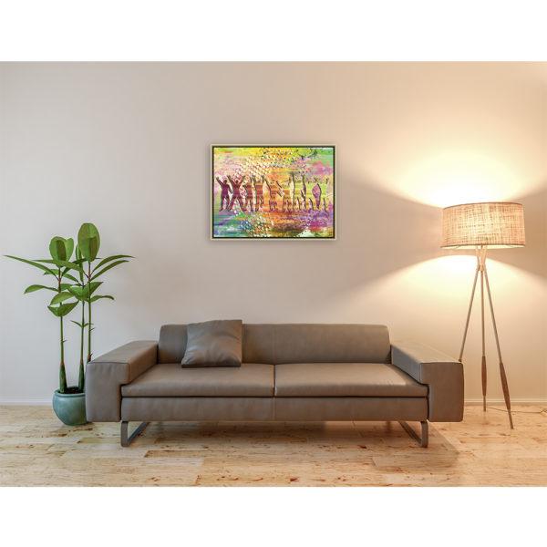 I've Got the Power : 80 x 60 cm – Grafisk kunst på lærred af Søren Grooss – Årstal : 2018