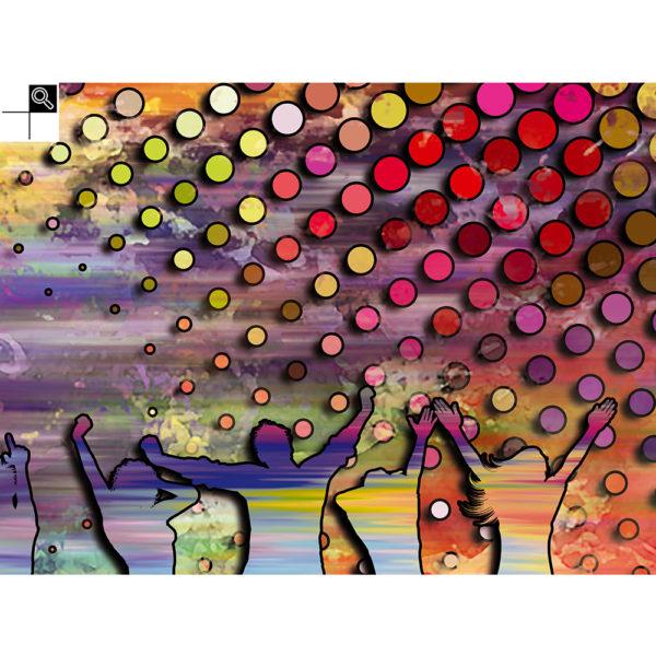 Loud Noises : 80 x 60 cm – Grafisk kunst på lærred af Søren Grooss – Årstal : 2018