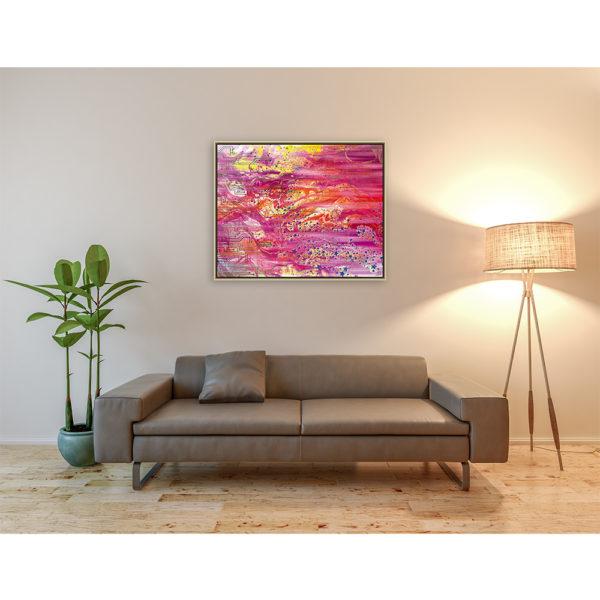 My Universe : 100 x 80 cm – Grafisk kunst på lærred af Søren Grooss – Årstal : 2018
