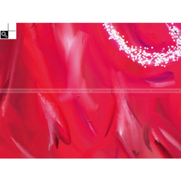 Maybe : 40 x 30 cm – Grafisk kunst på lærred af Søren Grooss – Årstal : 2011