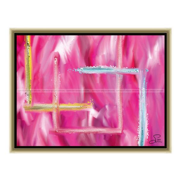 Which way : 40 x 30 cm – Grafisk kunst på lærred af Søren Grooss – Årstal : 2011