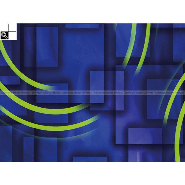 Blue boxes : 40 x 30 cm – Grafisk kunst på lærred af Søren Grooss – Årstal : 2011