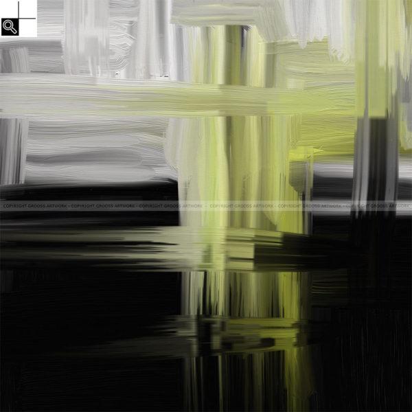 Moonlight : 50 x 50 cm – Grafisk kunst på lærred af Søren Grooss – Årstal : 2011