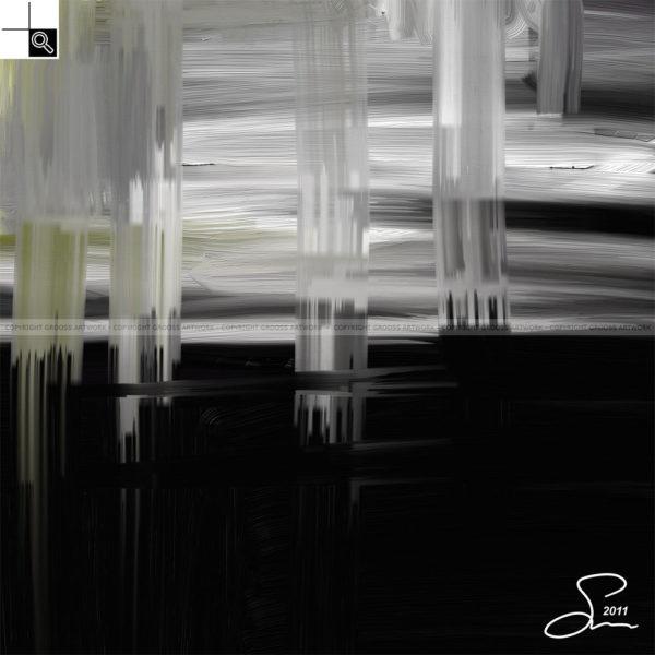Moonlight : 50 x 60 cm – Grafisk kunst på lærred af Søren Grooss – Årstal : 2011