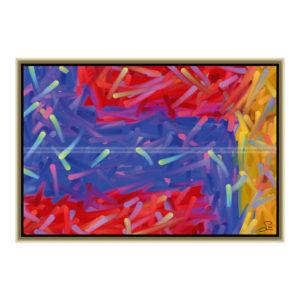 Toxic river : 60 x 40 cm – Grafisk kunst på lærred af Søren Grooss – Årstal : 2011