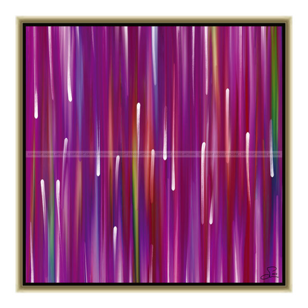 Purple rain : 50 x 50 cm – Grafisk kunst på lærred af Søren Grooss – Årstal : 2013