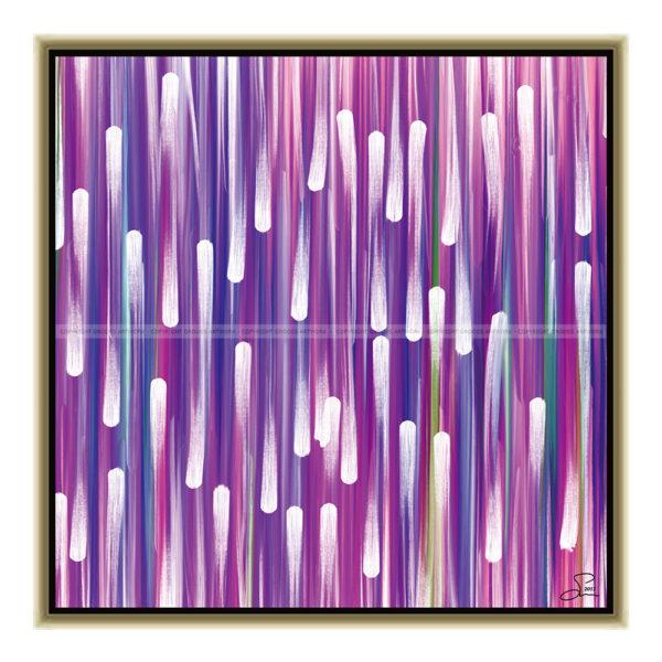 Purple snow : 50 x 50 cm – Grafisk kunst på lærred af Søren Grooss – Årstal : 2013