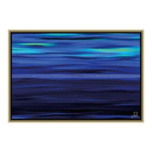 Northern lights : 60 x 40 cm – Grafisk kunst på lærred af Søren Grooss – Årstal : 2013