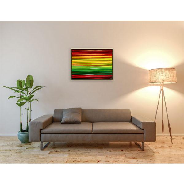 New sunset : 80 x 60 cm – Grafisk kunst på lærred af Søren Grooss – Årstal : 2013