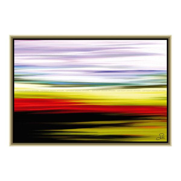 By the lake : 60 x 40 cm – Grafisk kunst på lærred af Søren Grooss – Årstal : 2013