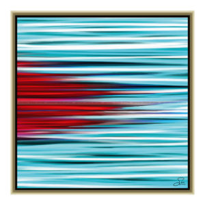 Murder on the ice : 50 x 50 cm – Grafisk kunst på lærred af Søren Grooss – Årstal : 2012